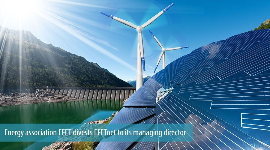 Energy association EFET divests EFETnet to its managing director