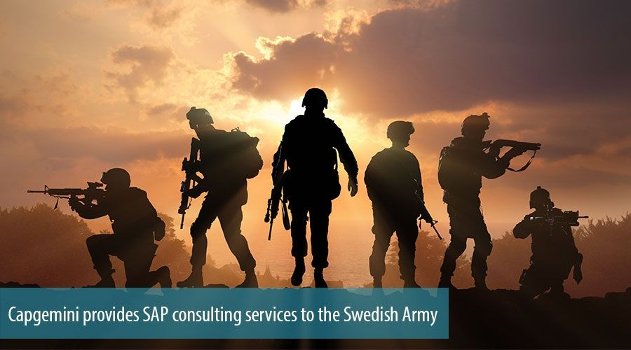 Capgemini provides SAP consulting services to the Swedish Army
