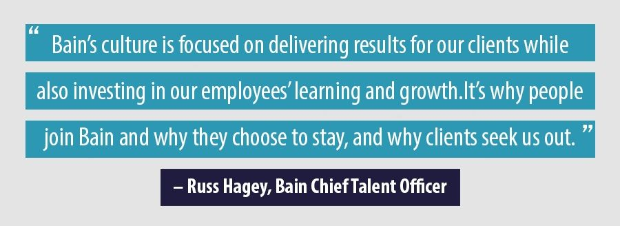 Quote Russ Hagey, Bain Chief Talent Officer