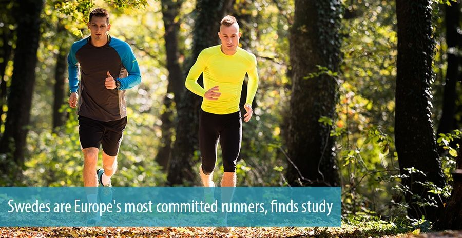 Swedes are Europe's most committed runners, finds study