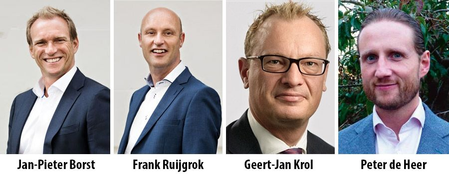 Jan-Pieter Borst, Frank Ruijgrok, Geert-Jan Krol and Peter de Heer