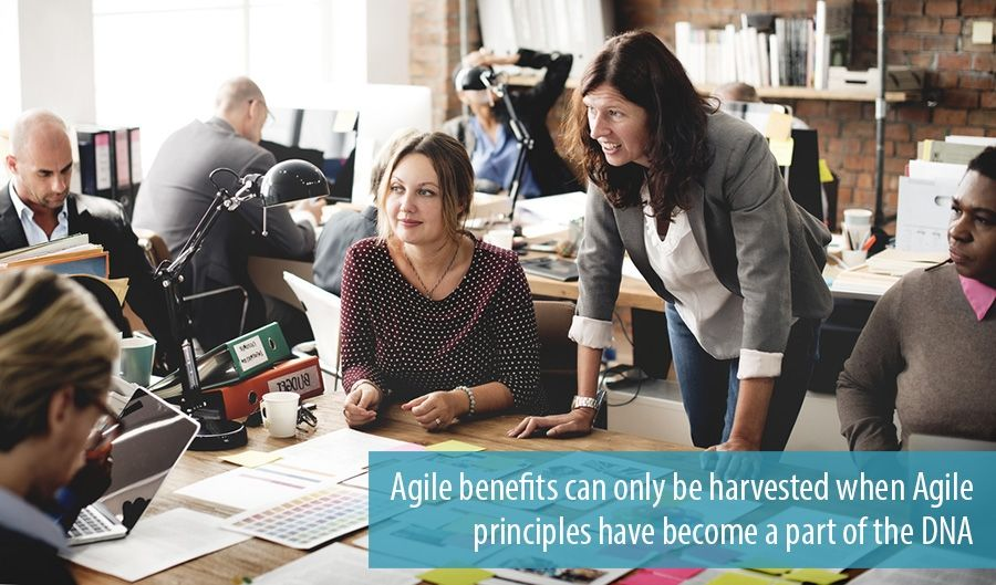 Agile benefits can only be harvested when Agile principles have become a part of the DNA