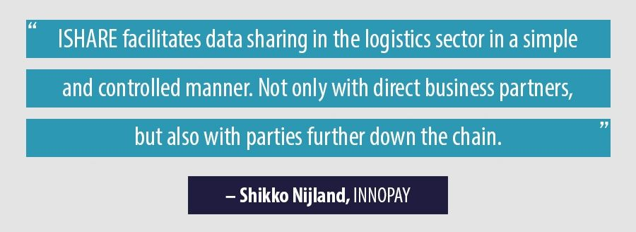 ISHARE facilitates data sharing in the logistics sector in a simple and controlled manner. Not only with direct business partners, but also with parties further down the chain