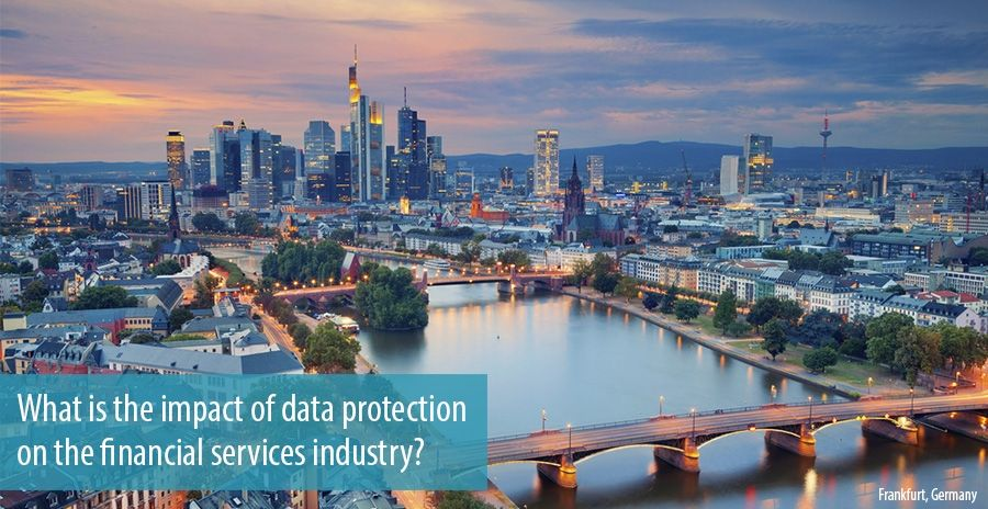 What is the impact of data protection on the financial services industry?
