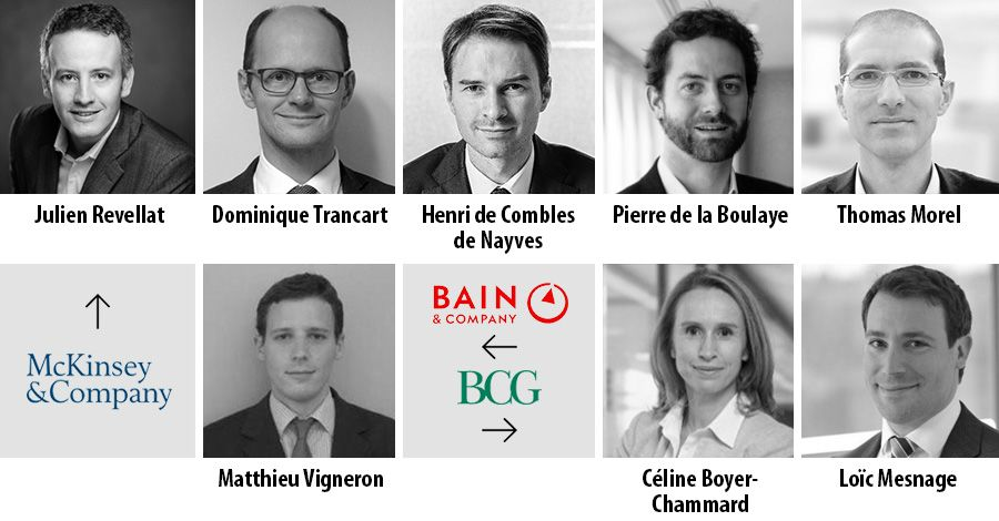Bain, Boston Consulting Group and McKinsey add senior advisors in France