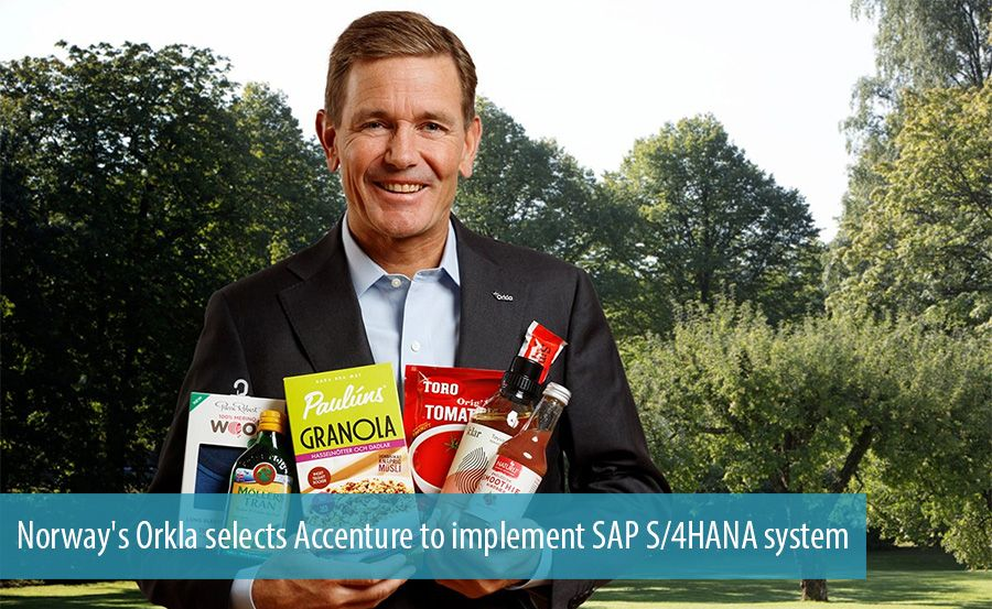 Norway's Orkla selects Accenture to implement SAP S/4HANA system