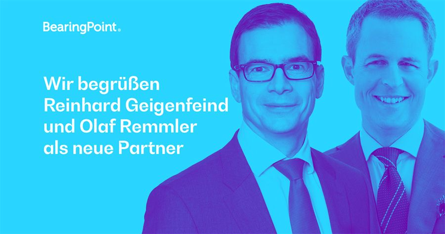 Olaf Remmler and Reinhard Geigenfeind join BearingPoint in Germany
