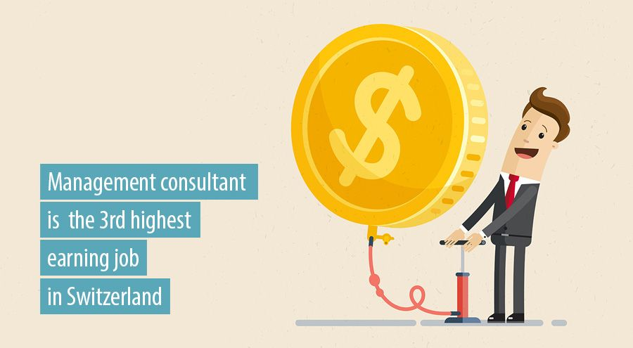 Management consultant is 3rd highest earning job in Switzerland