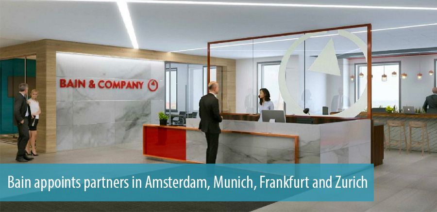 Bain appoints partners in Amsterdam, Munich, Frankfurt and Zurich