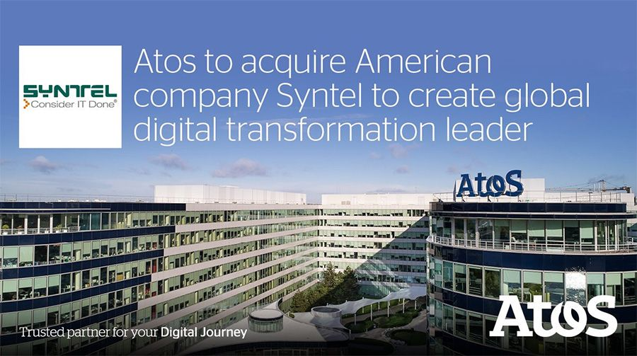 Atos acquires American IT services company Syntel for 3.4 billion dollar