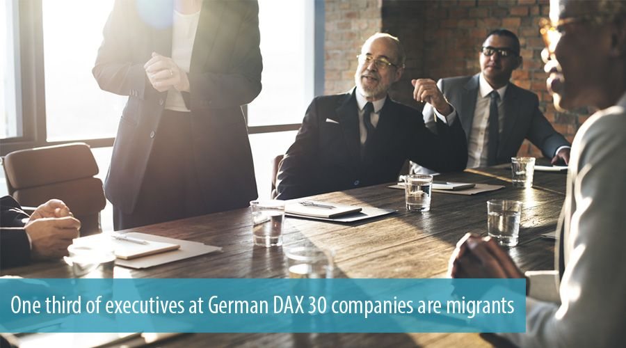 One third of executives at German DAX 30 companies are migrants