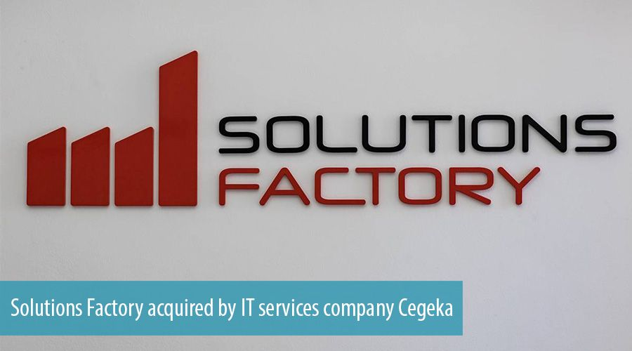 Solutions Factory acquired by IT services company Cegeka