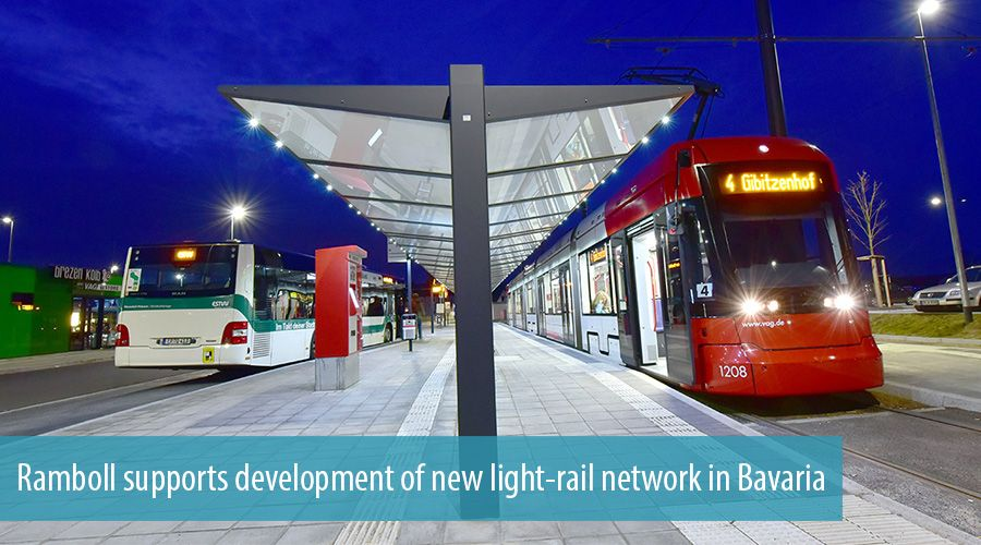 Ramboll supports development of new light-rail network in Bavaria