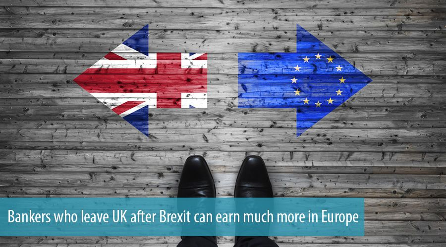 Bankers who leave UK after Brexit can earn much more in Europe