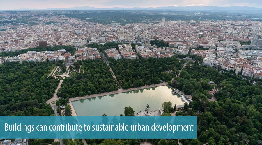 Buildings can contribute to sustainable urban development