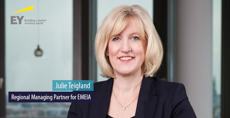 Julie Teigland, Regional Managing Partner for EY EMEIA
