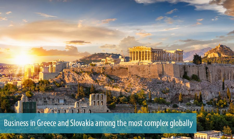Business in Greece and Slovakia among the most complex globally