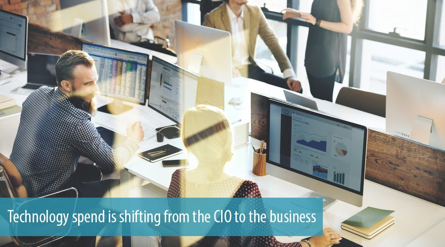 Technology spend is shifting from the CIO to the business