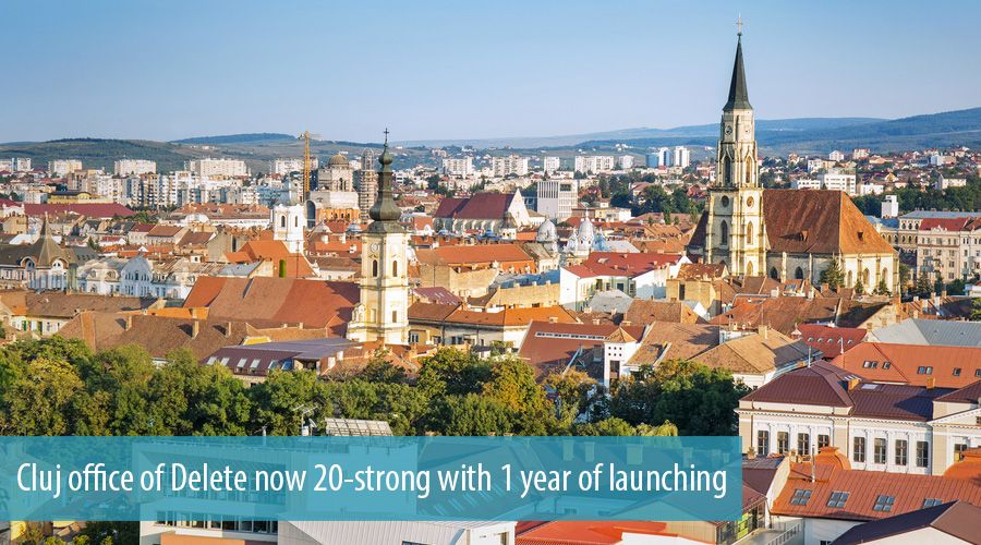 Cluj office of Delete now 20-strong with 1 year of launching
