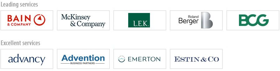 Leading strategy consulting firms for private equity in France