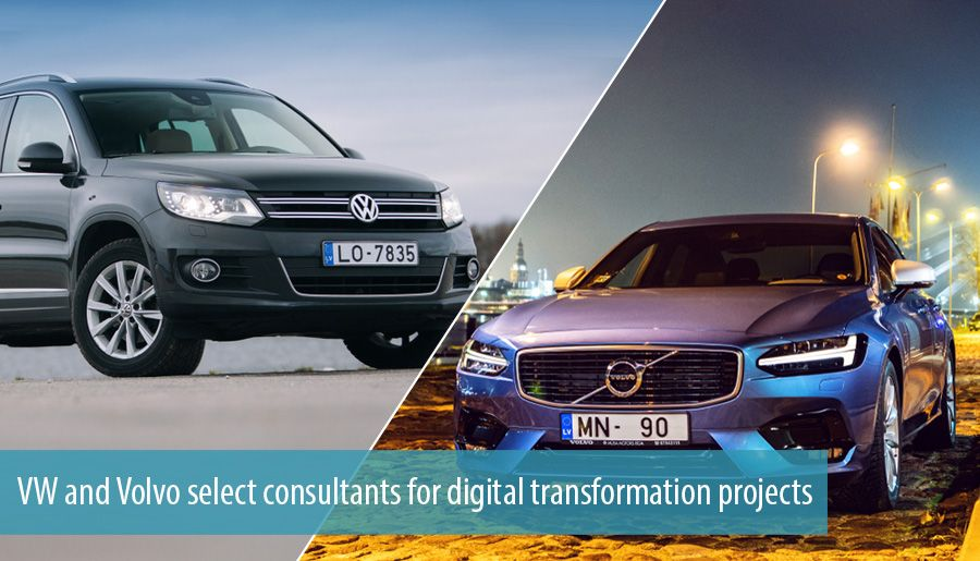 VW and Volvo select consultants for digital transformation projects