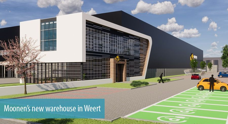 Moonen's new warehouse in Weert