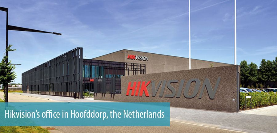 Hikvision's office in Hoofddorp, the Netherlands