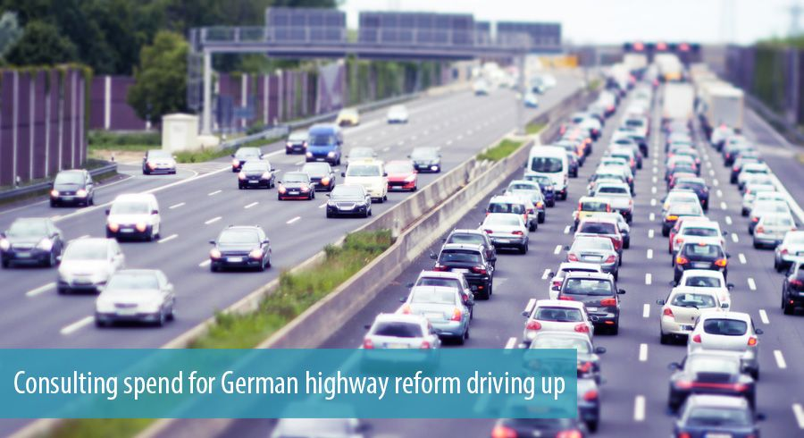 Consulting spend for German highway reform driving up