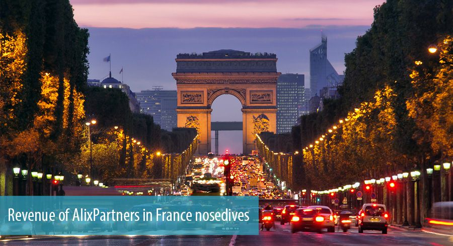 Revenue of AlixPartners in France nosedives