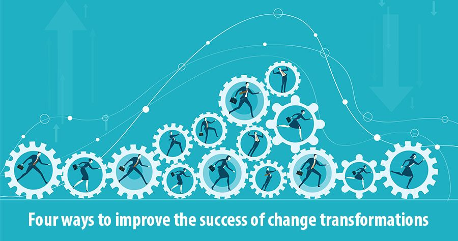 Four ways to improve the success of change transformations