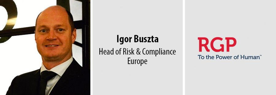 Igor Buszta, Head of Risk & Compliance in Europe, RGP
