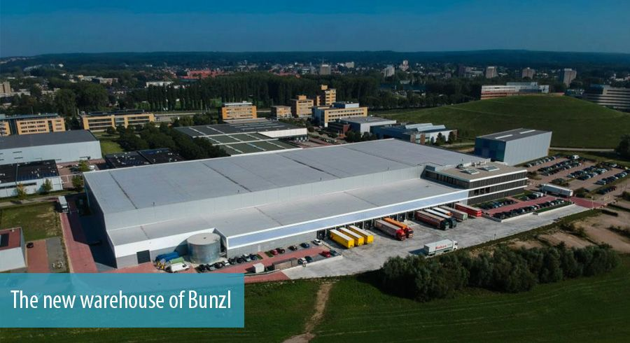 The new warehouse of Bunzl