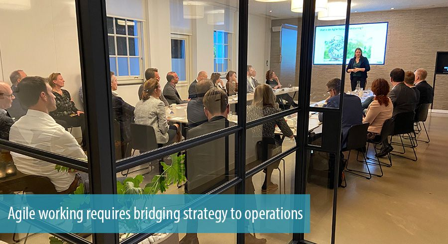 Agile working requires bridging strategy to operations