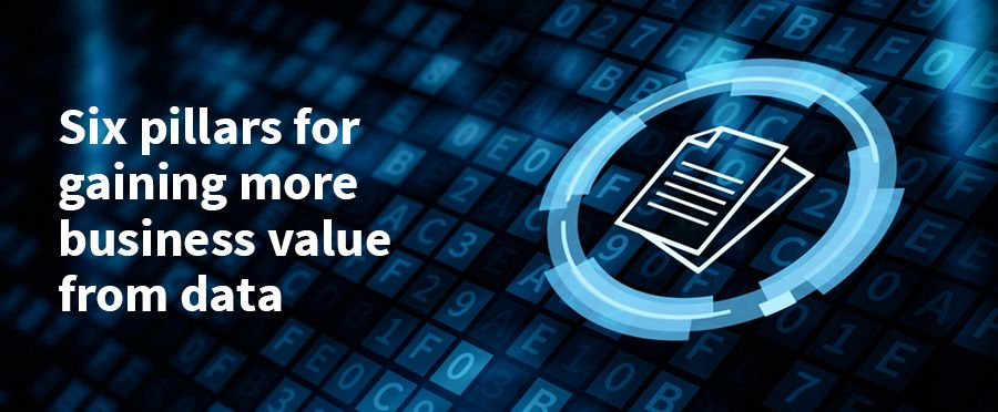 Six pillars for gaining more business value from data
