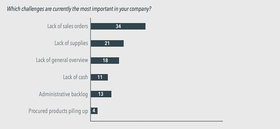 Which challenges are currently the most important in your company?