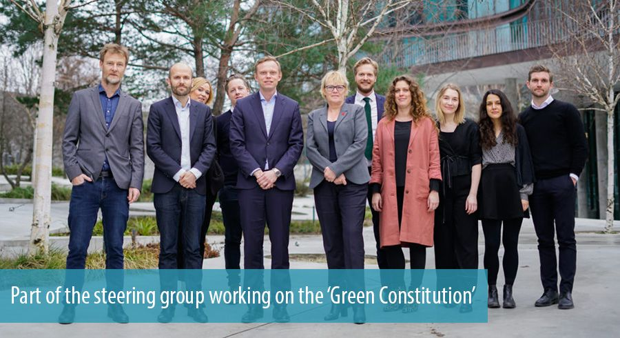 Part of the steering group working on the 'Green Constitution'