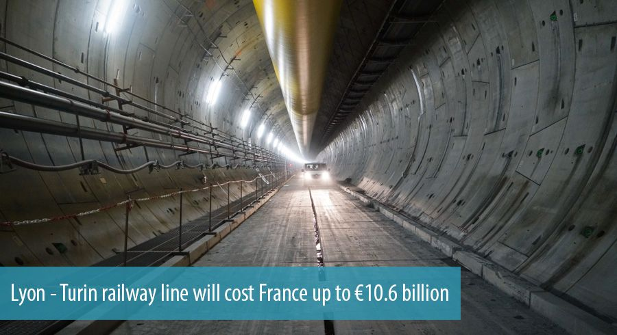 Lyon - Turin railway line will cost France up to €10.6 billion