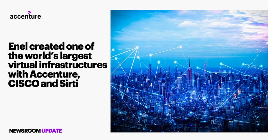 Accenture, Cisco and Sirti help Enel with IT transformation