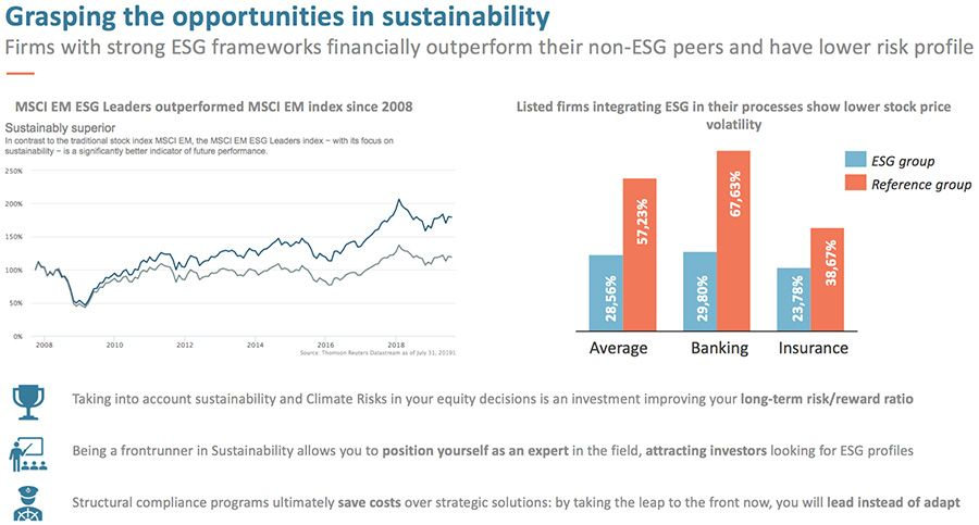 Grasping the opportunities in sustainability