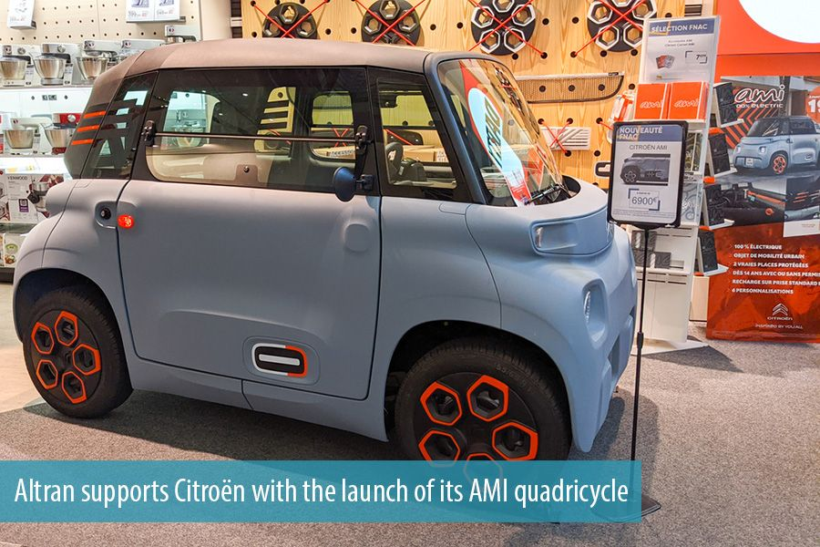Altran supports Citroën with the launch of its AMI quadricycle