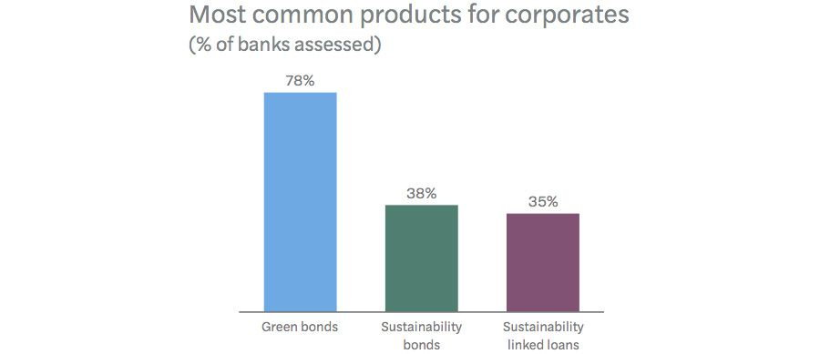 Breakdown of responsible banking products