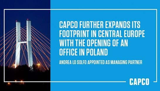 Capco opens office in Poland, 2nd in Eastern Europe and 24th globally