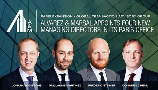 Alvarez & Marsal launches Transaction Advisory Group in Paris, France