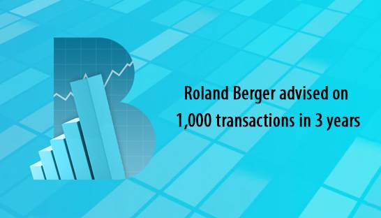 Roland Berger's M&A team advised on 1,000 transactions in past 3 years