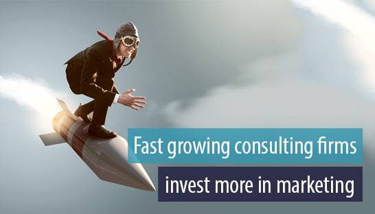 Fast growing consulting firms invest more in marketing