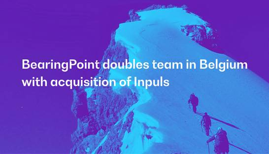 BearingPoint doubles team in Belgium with acquisition of Inpuls
