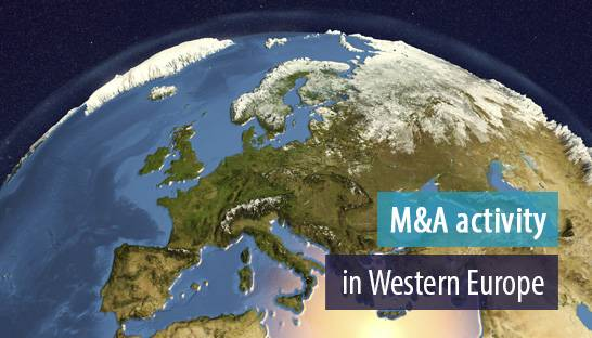M&A activity in Western Europe to see moderate decrease