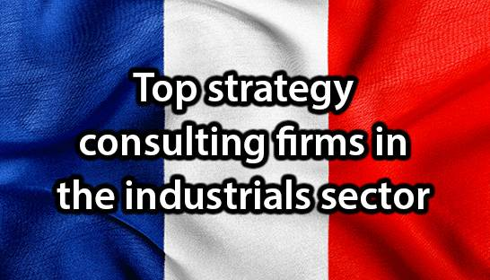 France's top strategy consulting firms in the industrials sector