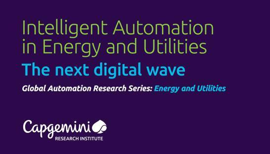 Energy and utilities sector can benefit from intelligent automation