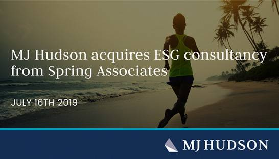 MJ Hudson acquires ESG operation of Dutch consultancy